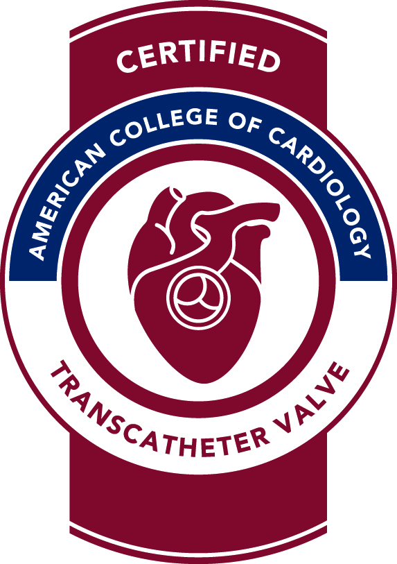 certified american college of cardiology tavr badge