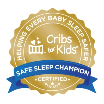 Safe Sleep Champion Certified logo